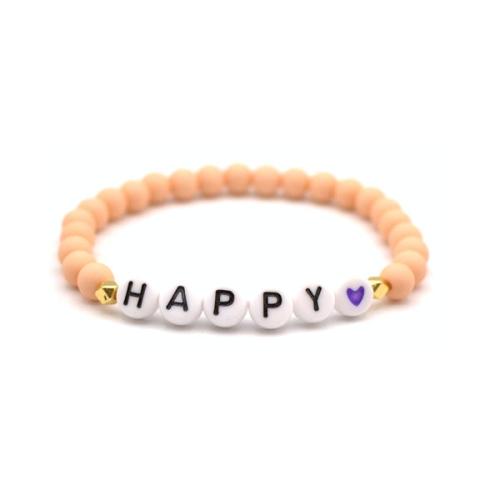 Perlenarmband - Happy