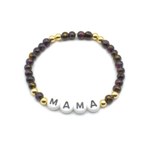 Armband Glasperlen - Mama