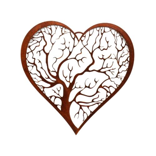 Metalldeko - Lebensader Herz